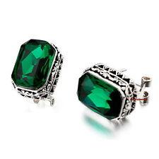 Black Emerald Green Made with Swarovski Crystal Filigree Stud Earring XE105