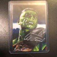 Hulk avengers Thor Ragnarok marvel 1/1 hand drawn original art sketch card aceo