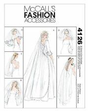 McCalls Fashion Accessories 4126 Sewing Pattern Wedding Veils Uncut Ff
