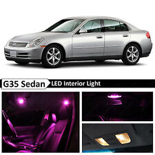 11x Pink LED Lights Interior Package  2003-2006 G35 Sedan