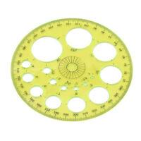 360 Degree Circular Plastic Protractor Ruler Template Measuring Ruler OO