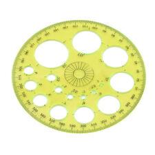 360 Degree Circular Plastic Protractor Ruler Template Measure Tool jian