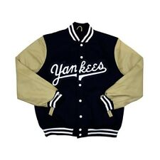 New York Yankees Mitchell & Ness Authentic Wool Leather Vintage Varsity Jacket