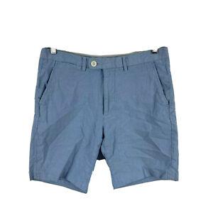 Country Road Mens Shorts Size 30 Blue Zip Closure Bermuda Pockets
