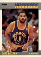 1987-88 Fleer Golden State Warriors Basketball Card #7 Greg Ballard