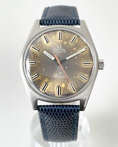 1968 OMEGA GENEVE BLUE SUN KISSED PATINA DIAL AUTOMATIC CAL. 552 REF. 165.041