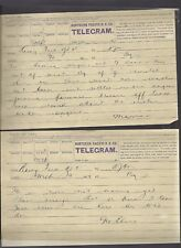 NORTHERN PACIFIC RAILROAD COMPANY TELEGRAMS 1889 ANTIQUE MUSEUM WESTERN PAPER 2
