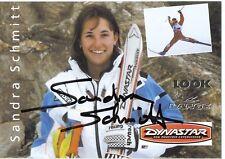 Sandra Schmitt † 2000 ski freestyle autografiada mapa firmado 361043