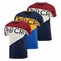Mens Crosshatch T-Shirt Contrast Short Sleeve Tee Top Jove