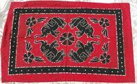 Élephants de cérémonie 2 taies de coussin Fait main Coton Inde Hippie Boho C90