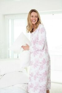 Cyberjammies Nora Rose Long Sleeve Nightdress   Size : 10   Colour : Pink/White