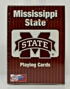 PlayMonster - NCAA Collegiate Teams Playing Cards Mississippi Bulldog New/Sealed