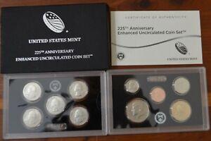 2017 S 225th Enhanced Uncirculated 10 Coin Set