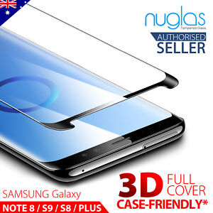 NUGLAS For Samsung S10 5G S9 S8 Plus Note 10 9 8 Tempered Glass Screen Protector