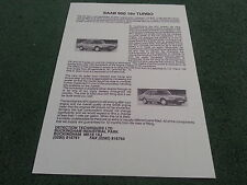 1989 DETECTION TECHNIQUES SUPERCHIPS SAAB 900 16V TURBO UK LEAFLET - BROCHURE