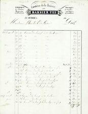 Dépt 38 - La Buisse - Carrière de la Buisse - Pierres de Tailles du 30/06/1847