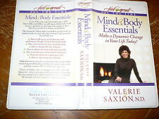 Dr Valerie Saxion Mind & Body Essentials Audio Tape Set 4 Cassettes Silver Creek