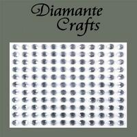 132 x 5mm Clear Diamante Self Adhesive Rhinestone body Vajazzle Gems