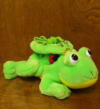 "Aurora Purse #16119 Lily Frog, 10"" x 7"" plush purse NEW from our Retail Store"
