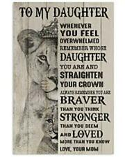 Lion King To My Daughter Remember Whose You're Love Your Mom Poster No Frame