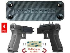 4-Pack Gun/Rifle/Shotgun Magnetic Mount 43 Lbs Rating Rubber Coated Quick Access