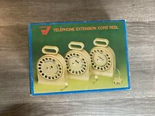 Telephone Retractable Extension Cord Reel Standard Jack AID Gemini TA 205 NEW