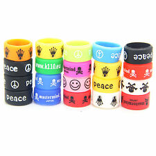 10 Rubber Silicone Vape Band Ring Protection for your Tank / MOD Glow Fashion UK