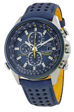 Citizen AT8020-03L Men's Eco Drive Blue Angels Leather Band A-T Chrono Watch