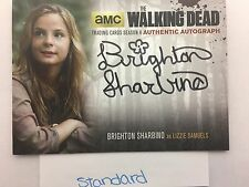 Walking Dead Season 4 PART 1 Brighton Sharbino Lizzie Samuels STANDARD AUTO BS2