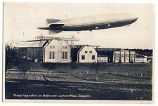 FRIEDRICHSHAFEN Luftschiff LZ130 Graf Zeppelin über Hangar * Foto-AK um 1925