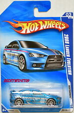 HOT WHEELS 2010 NIGHTBURNERZ 2008 LANCER EVOLUTION #03/10 BLUE W+