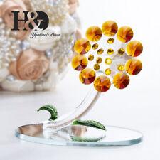 Novel Crystal Sun Flower Figurines Cut Glass Ornaments Mother Gift Wedding Decor