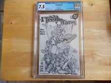 TEEN TITANS #1 MICHAEL TURNER SKETCH COVER CGC 7.5!
