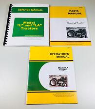 John Deere La Tractor Service Manual Set Operators Parts Repair Book Overhaul