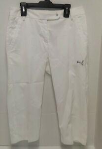 Puma Golf Sport Lifestyle Cell White Capri Pants - Women Size 0 **EUC**