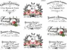 VinTaGe IMaGe FRenCh PaRiS LaBeLs ShaBby WaTerSLiDe DeCALs TRaNsFeRs FL3