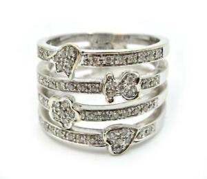 18k White Gold Tous Gold Puppies 0.30cttw Diamond Ring