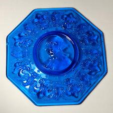 GEORGE WASHINGTON COLLECTORS PLATE COBALT BLUE PRESIDENT 1ST FIRST GLASSWARE USA