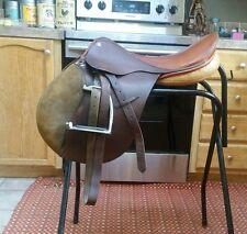 "18"" VERY SOFT LEATHER!!! Jumping English Saddle W leathers & irons ap medium"