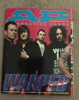 ALTERNATIVE PRESS Magazine Warped Tour Cover Aug 2008 #241 Alkaline Trio