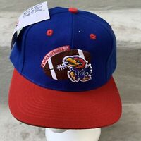 Kansas University Jayhawks Hat Snapback Cap Blue NCAA College NWT VTG 90s