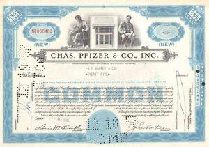 Chas. Pfizer & Co., Inc. > 1950s Viagra Celebrex stock certificate share