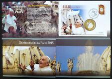 Vatikan Numisbrief / Medaillenbrief Papst Franziskus Weltfriedenstag 2015 Folder