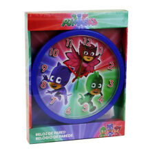 "PJ MASKS CHILDRENS CHARACTER 10"" WALL CLOCK KIDS BEDROOM OWLETTE GEKKO CATBOY"