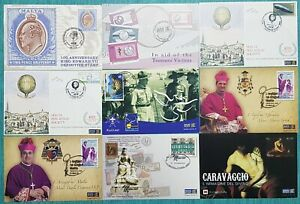 2004/7 MALTA Collection / LOT of 9 SHC Cancelled - postal / Occassion Cards