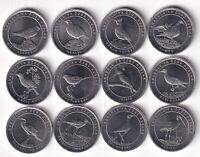 TURKEY ANATOLIAN BIRD SPECIES, 12 PCS COIN SET, 1 Kurus 2020, UNC,Aluminum Metal