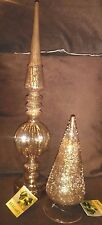 Glass Decorative Figurines Set of Two