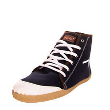 Rodia Canvas High Top Sneakers Eu 42 Uk 8 Us 9 Embroidered Lace Up Round Toe