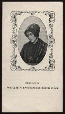 """santino-holy card""""S.VINCENZA GEROSA"""