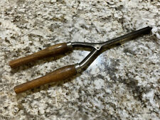 New listing Vintage Hair or Mustache Curling Iron Wood Handles - RARE